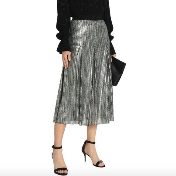 d88f5aafec Maje Dresses & Skirts - MAJE Silver Sequin Pleated Tulle Midi Skirt 0549